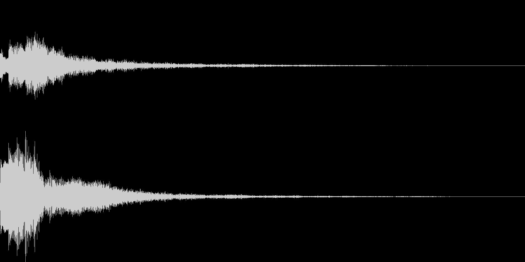 キーアイテム発見・違和感時の未再生の波形