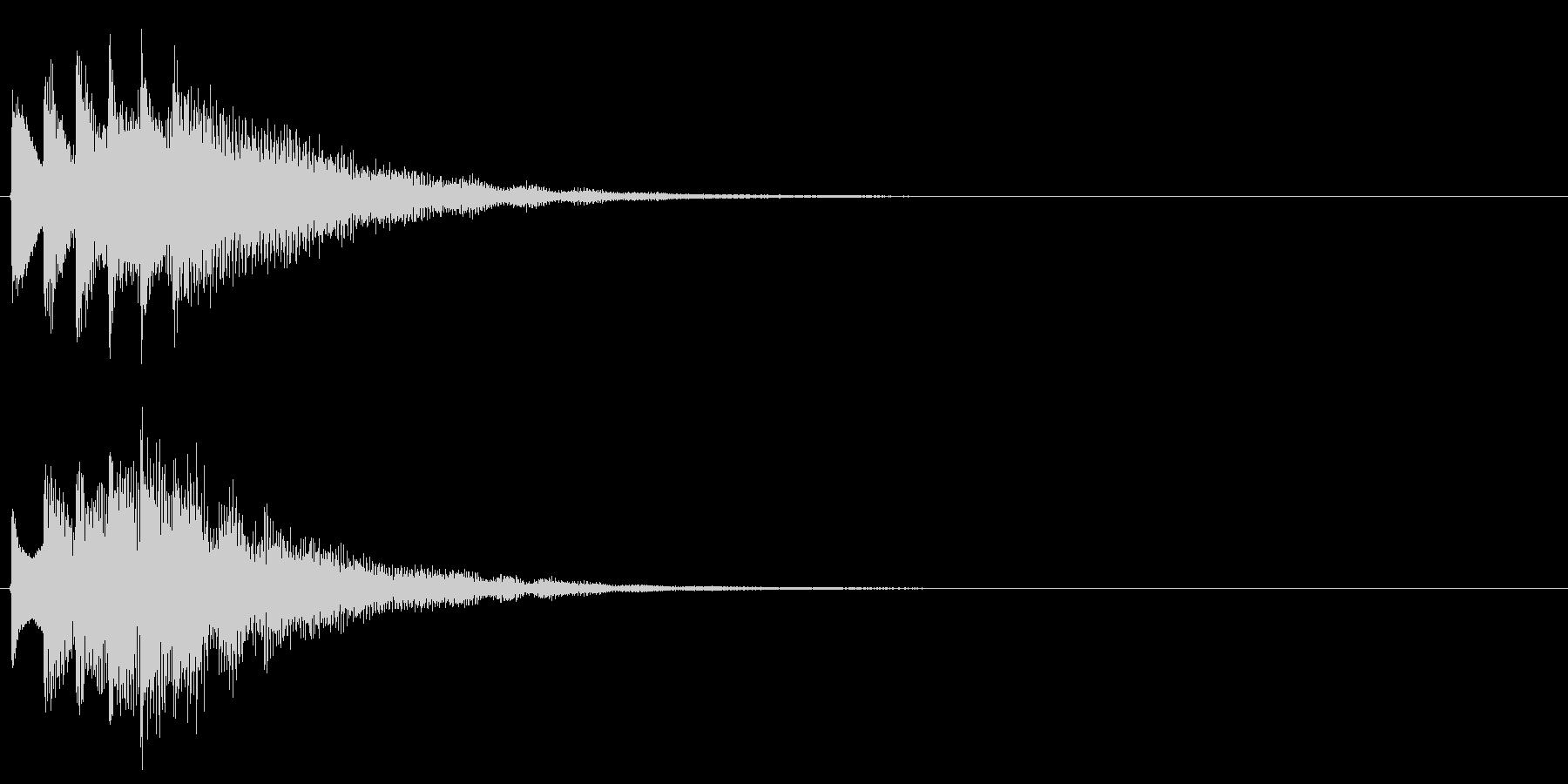 タララララン↓(場面転換、下降)の未再生の波形