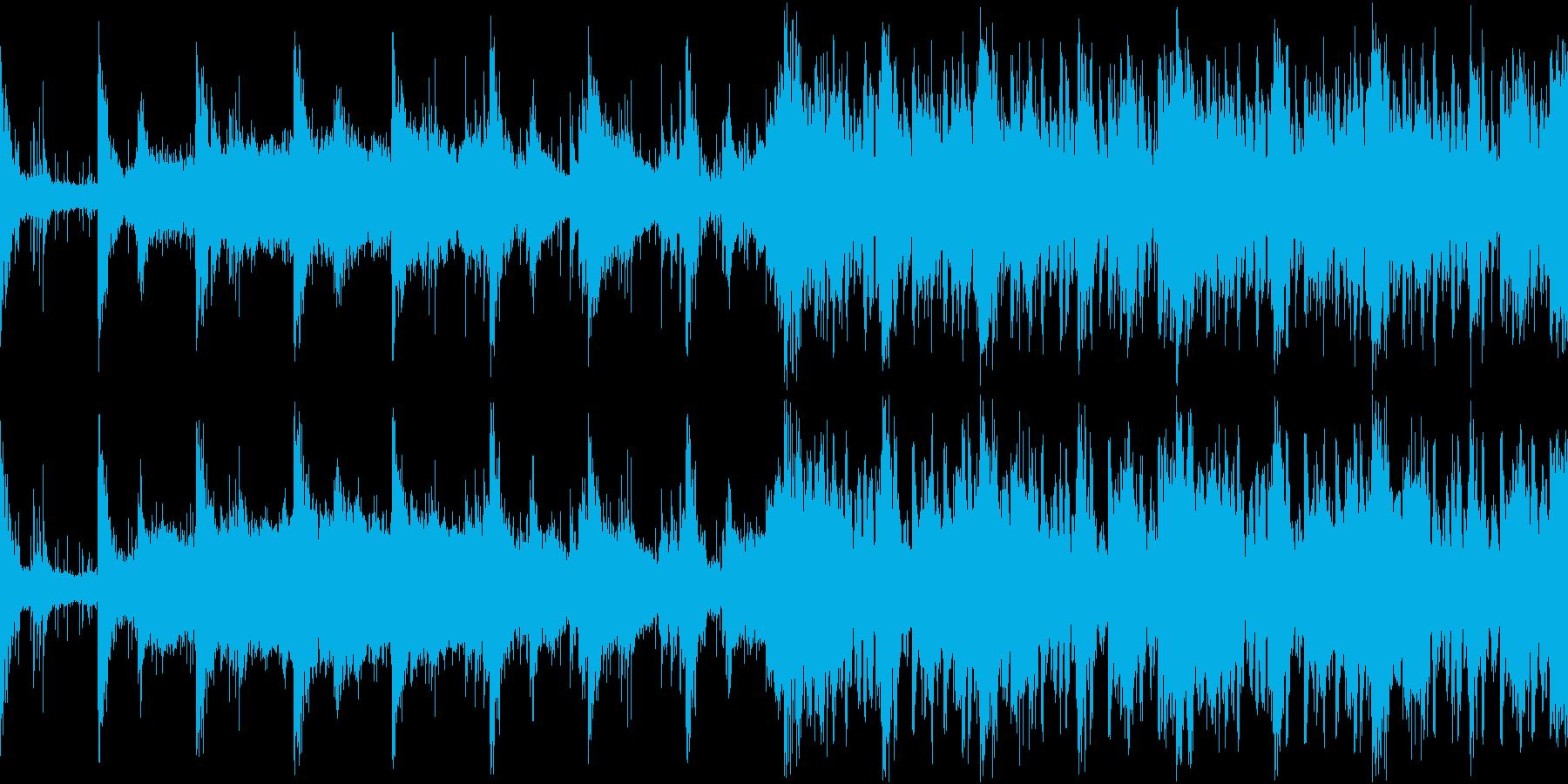 何かが迫りくるサスペンスドラマ系 ループの再生済みの波形
