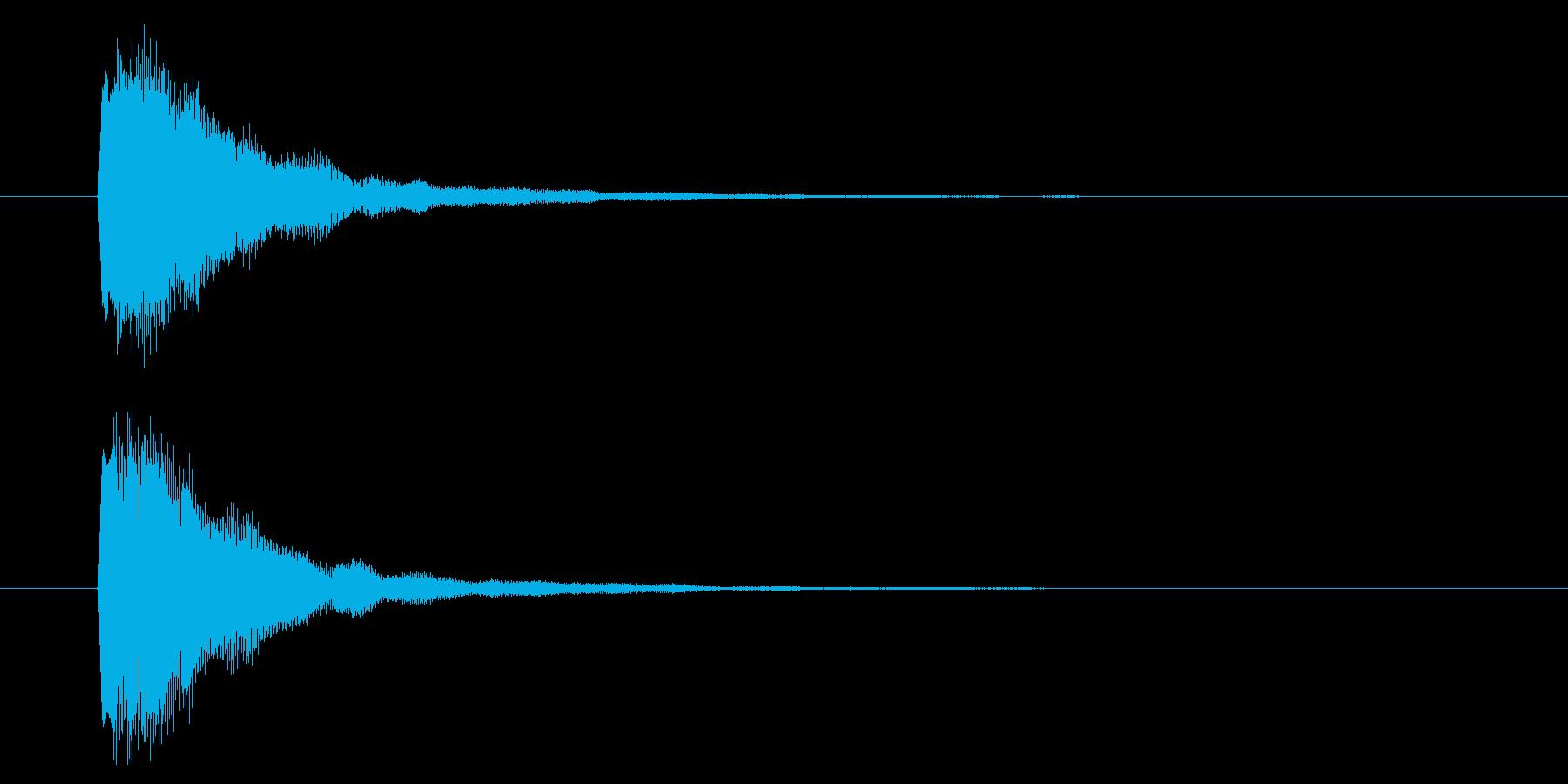 短い決定音の再生済みの波形