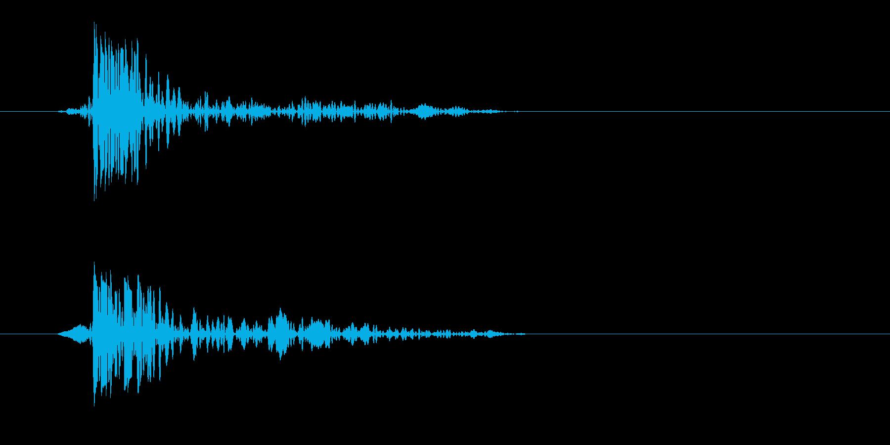 トンッ(落ちる音)シンプルの再生済みの波形