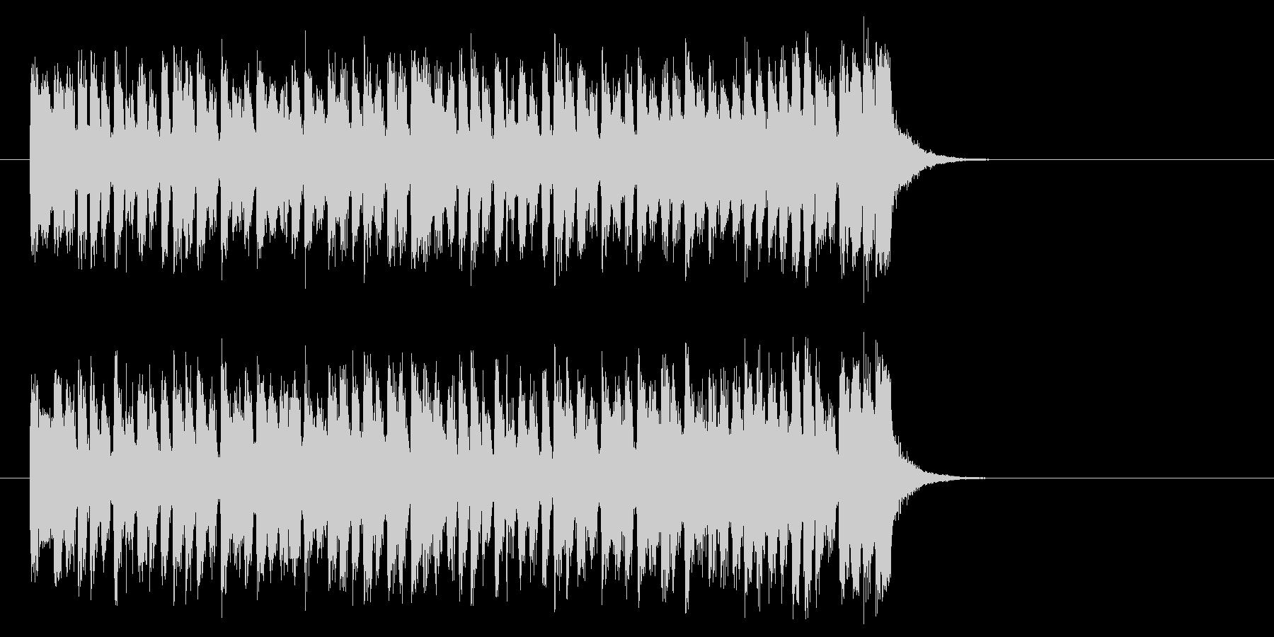 爽快な8ビート・ポップス(イントロ)の未再生の波形