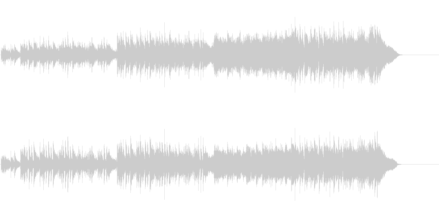 エレガントなボサノバ調アコースティックの未再生の波形