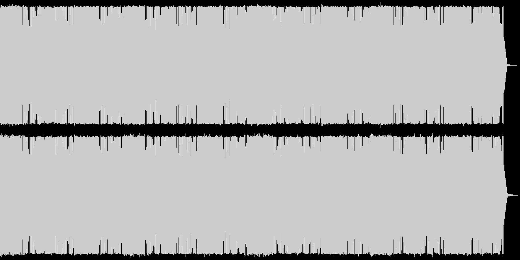 疾走感のあるヘビーメタル 戦闘シーン向けの未再生の波形