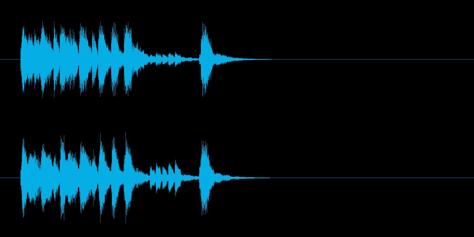 ジングル(情熱のマイナー・フラメンコ風)の再生済みの波形