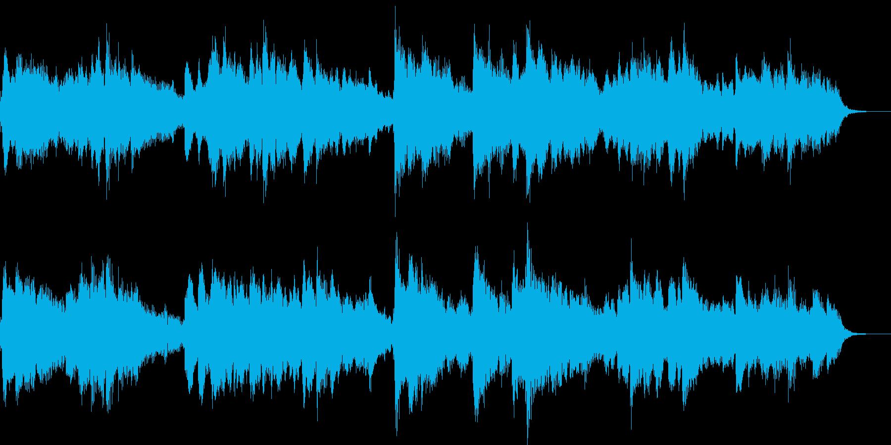 フルートメインの温かく優しいジングルの再生済みの波形