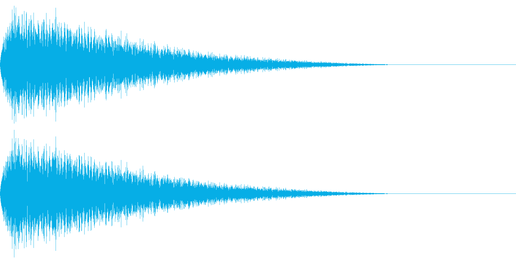 DTM Snare 10 オリジナル音源の再生済みの波形