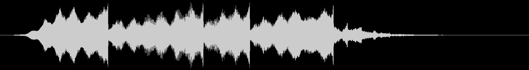 ピアノの高音の逆再生サウンドロゴの未再生の波形