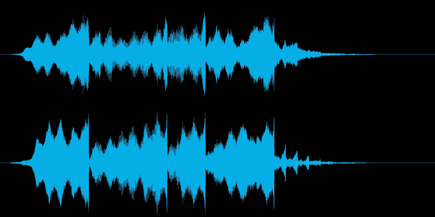 ピアノの高音の逆再生サウンドロゴの再生済みの波形