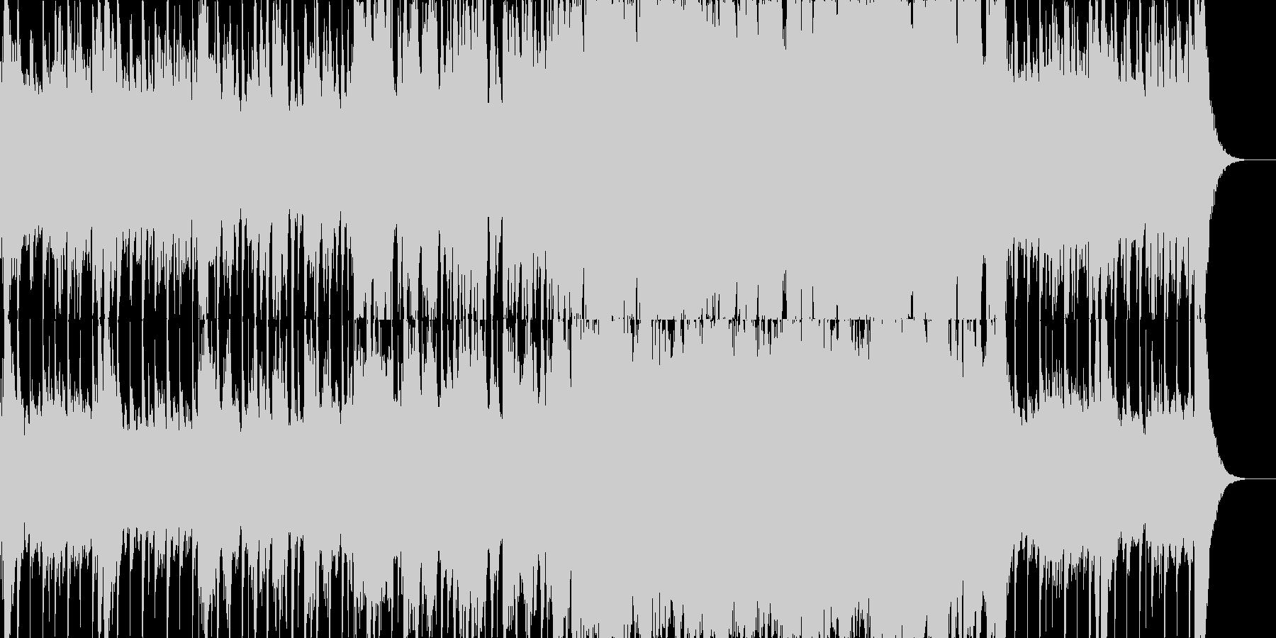 かっこいいオーケストラロックの未再生の波形