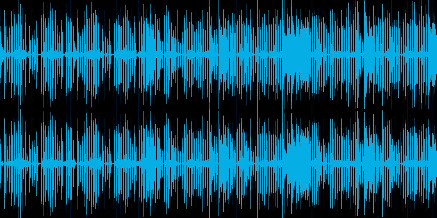 ほのぼのと進行感のあるゲーム音楽の再生済みの波形