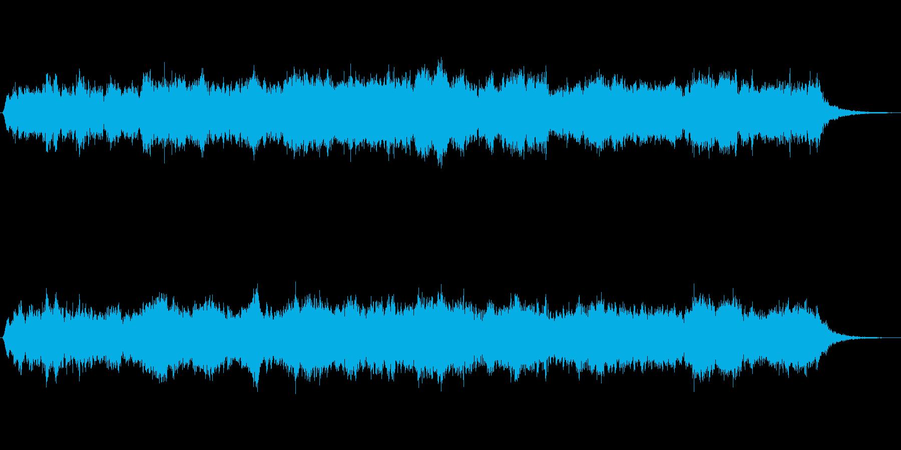 オーボエとシンセの優しい雰囲気のジングルの再生済みの波形