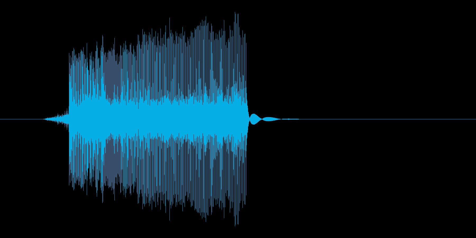 ゲーム(ファミコン風)レーザー音_017の再生済みの波形