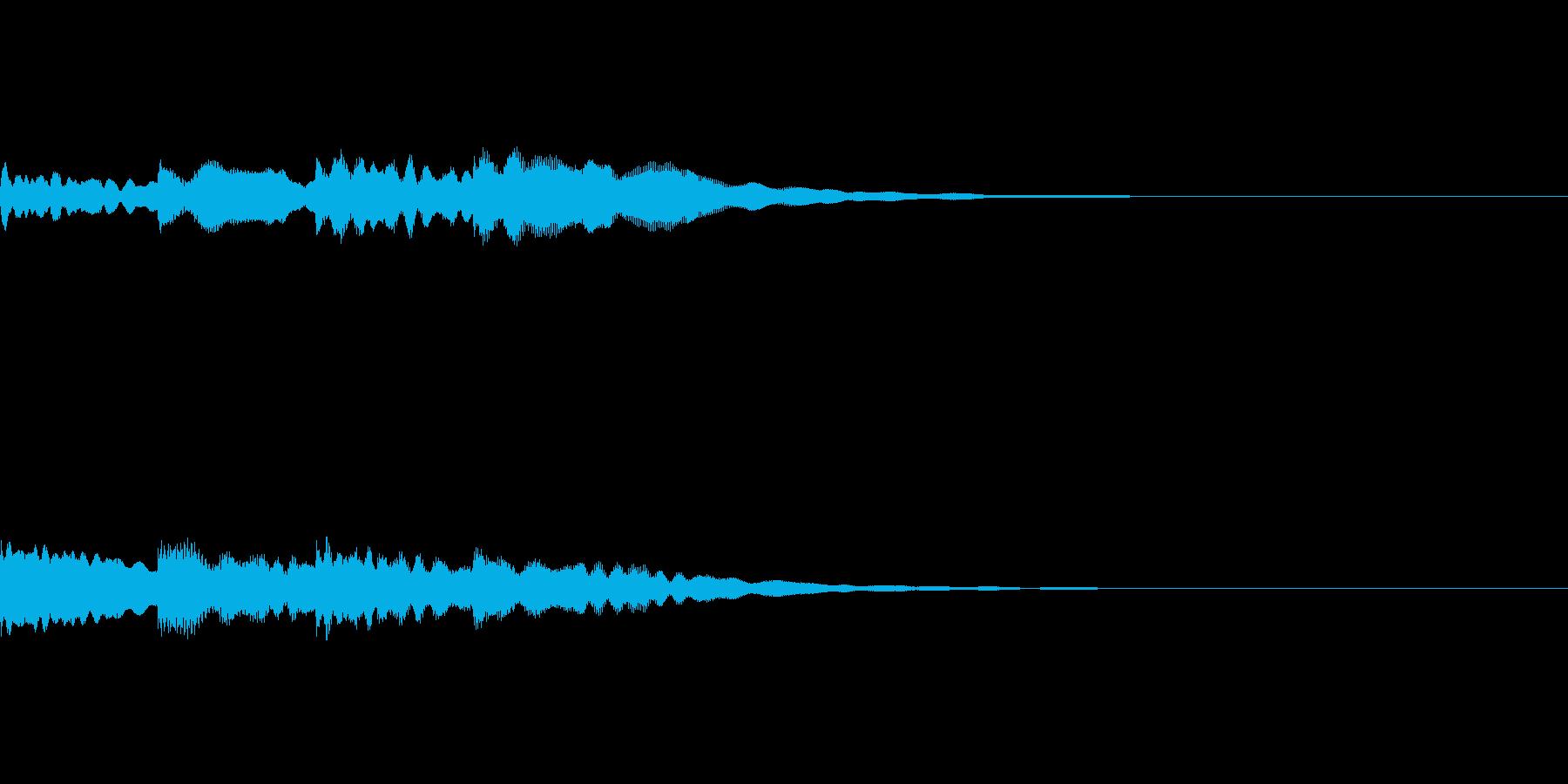 場面転換に使えるチャイムの効果音。の再生済みの波形