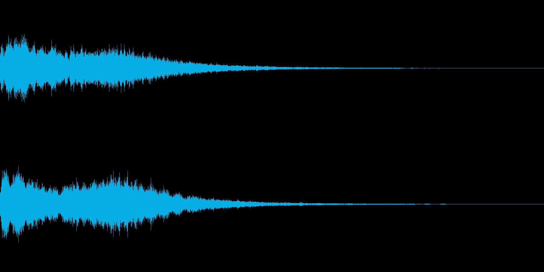 変身 美少女 効果音の再生済みの波形
