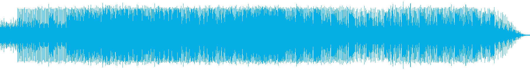 ヘビーでスペイシーなダンステクノの再生済みの波形