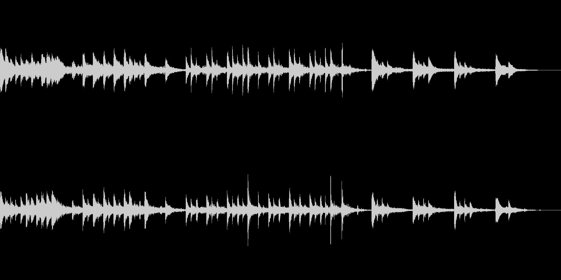 退廃的で物悲しいピアノホラーの未再生の波形