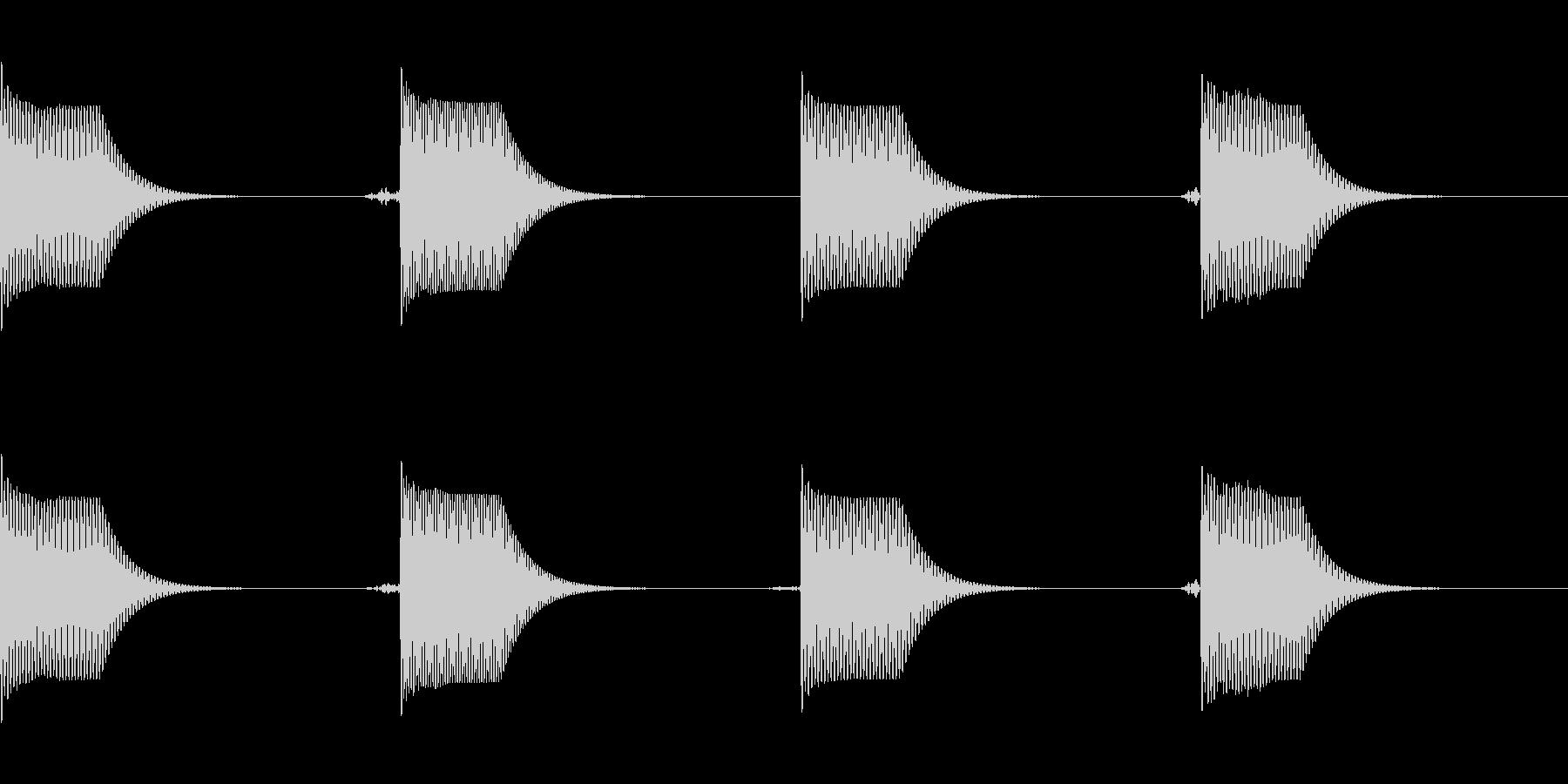 [効果音]コミカルな着信音の未再生の波形