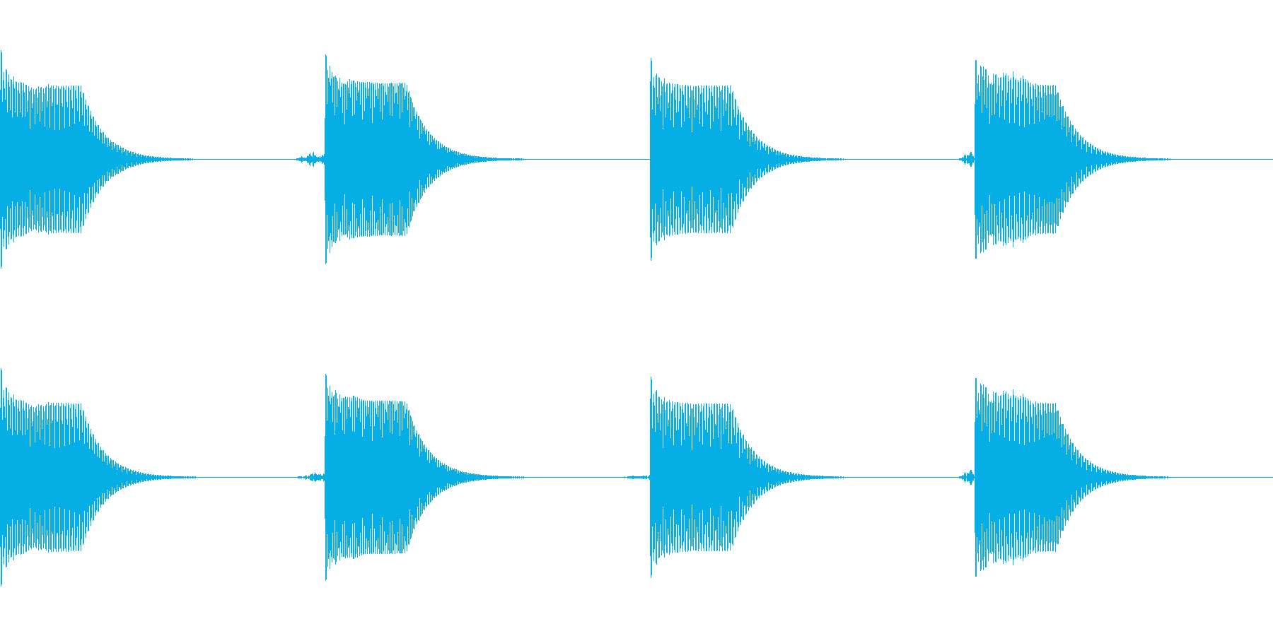 [効果音]コミカルな着信音の再生済みの波形