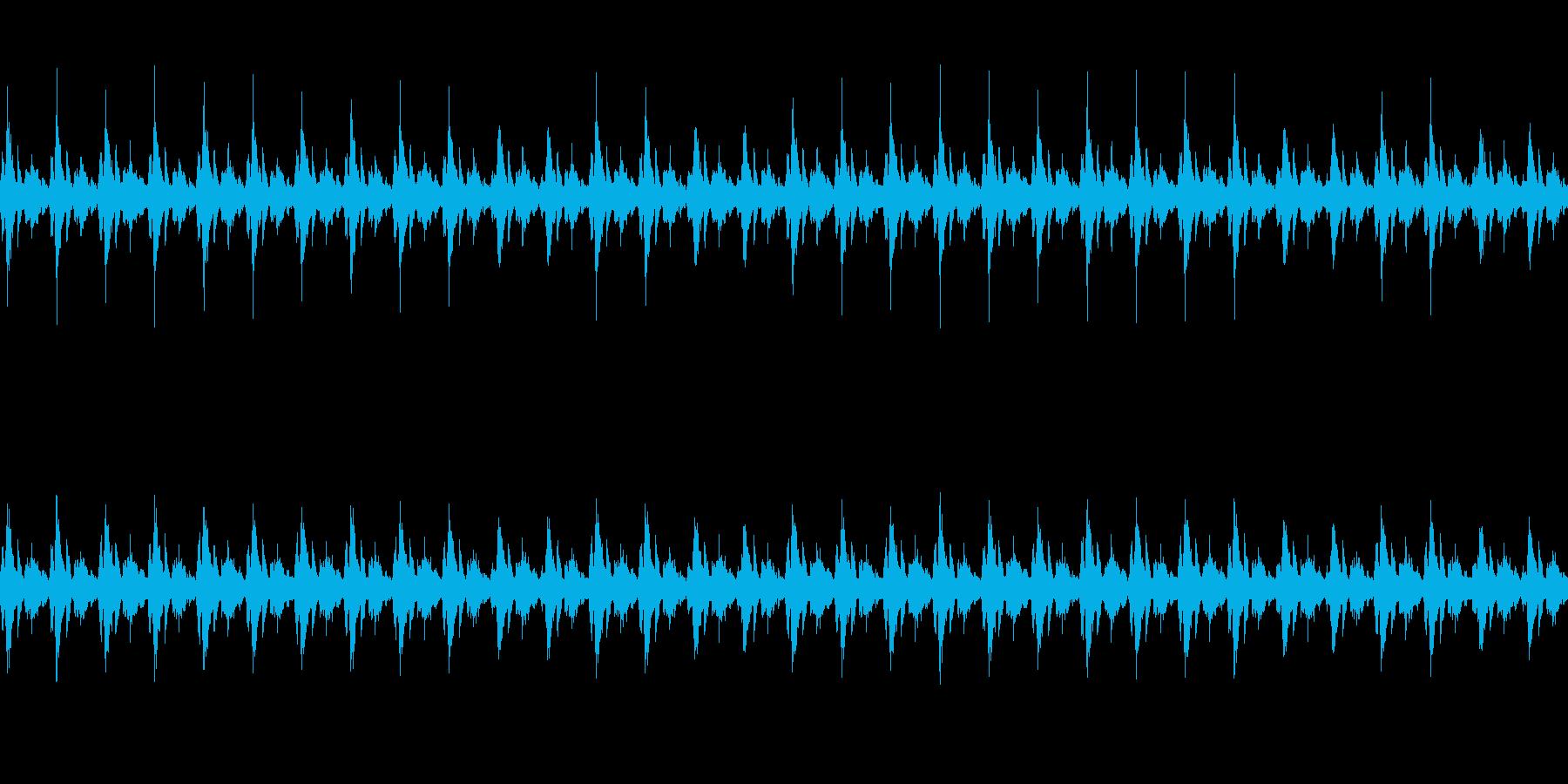 クリスマスっぽい鈴の音の再生済みの波形