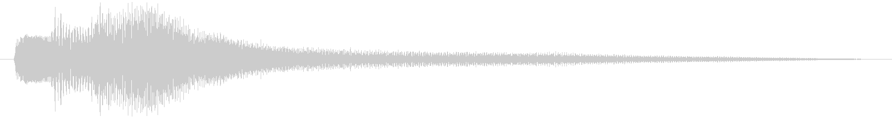ピアノのSEです。ジングル的な音ですの未再生の波形