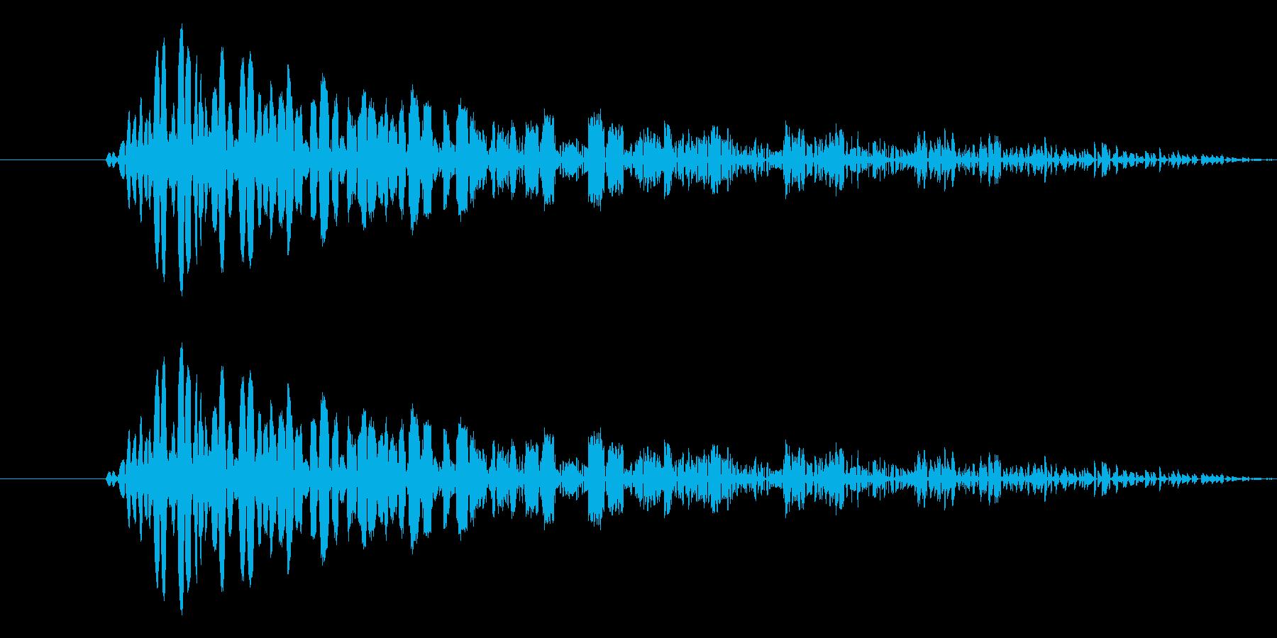 RPGゲーム・やられた・倒れた・ドゥーンの再生済みの波形