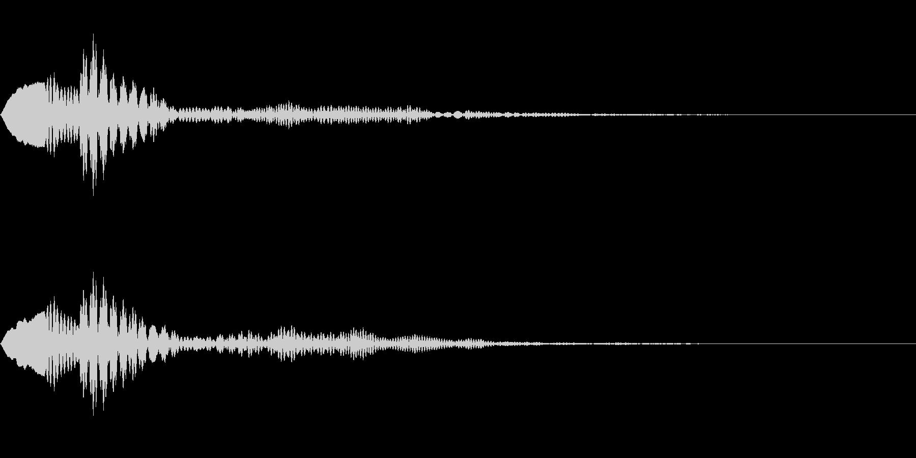 シンプルなキャンセル音3の未再生の波形