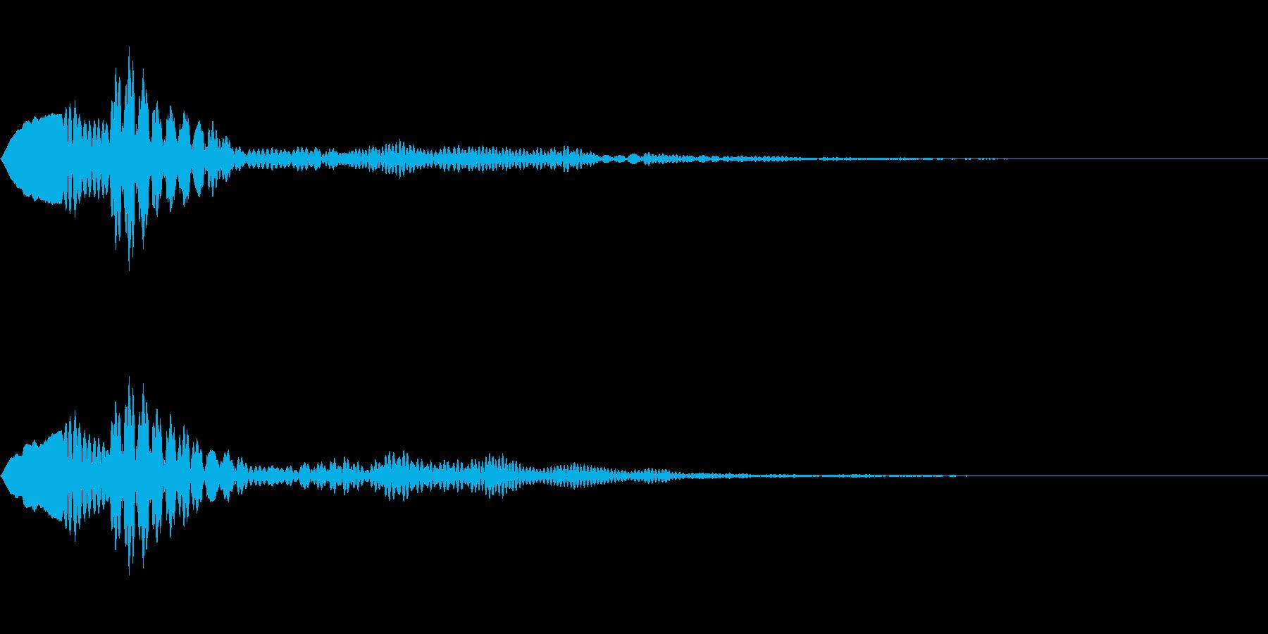 シンプルなキャンセル音3の再生済みの波形