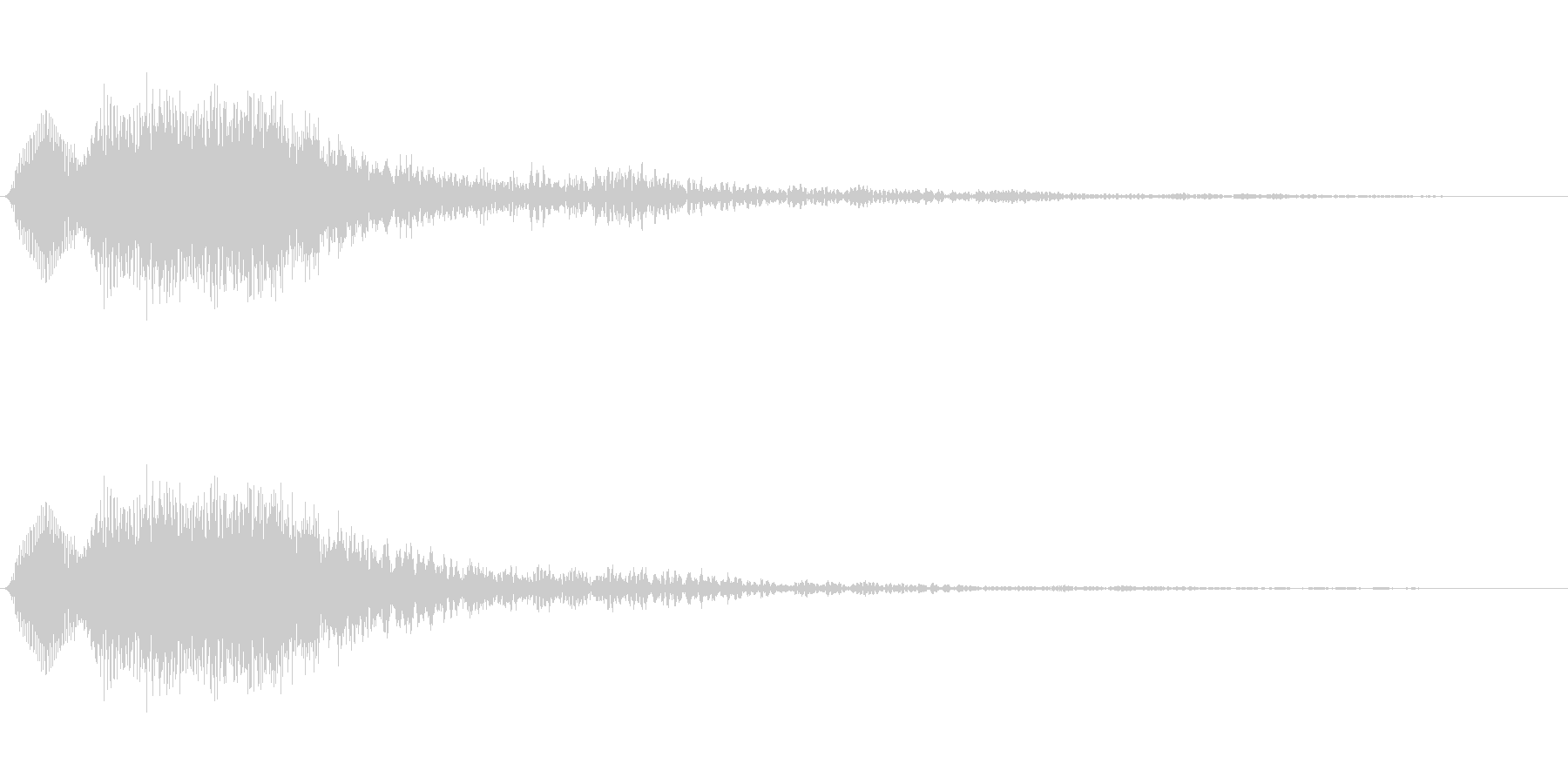 [ティロン]選択音(シンプルなシンセ系)の未再生の波形