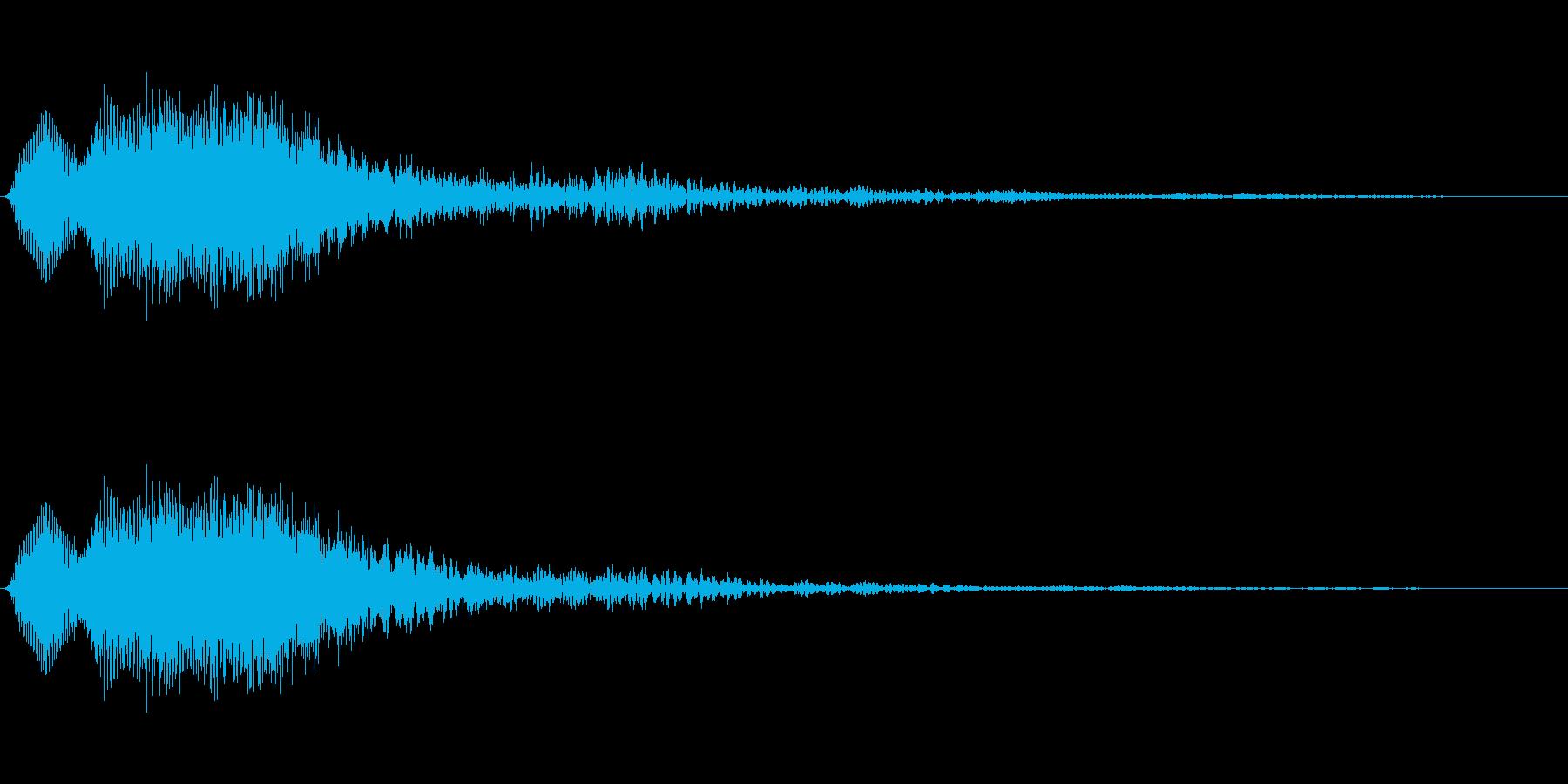 [ティロン]選択音(シンプルなシンセ系)の再生済みの波形