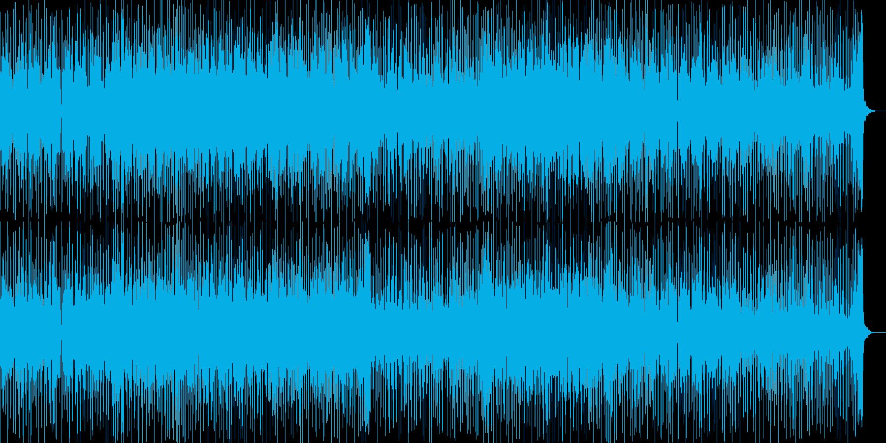 緊迫感のある場面展開に合いそうなBGMの再生済みの波形