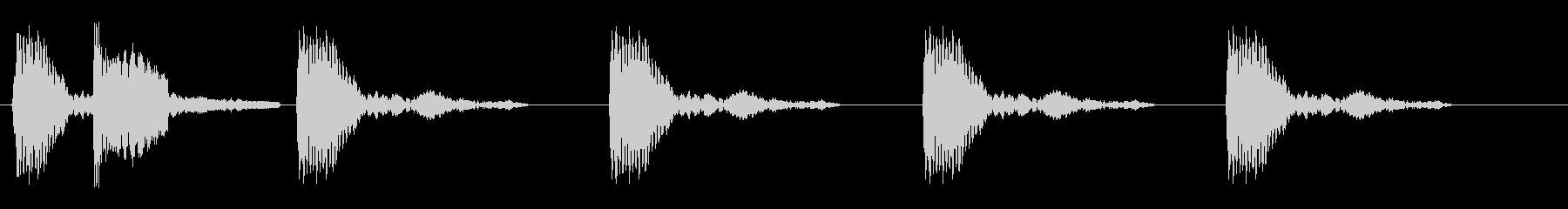 コッコッコッ(鶏の鳴き声)の未再生の波形