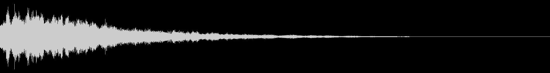 キラーンと光る音の未再生の波形