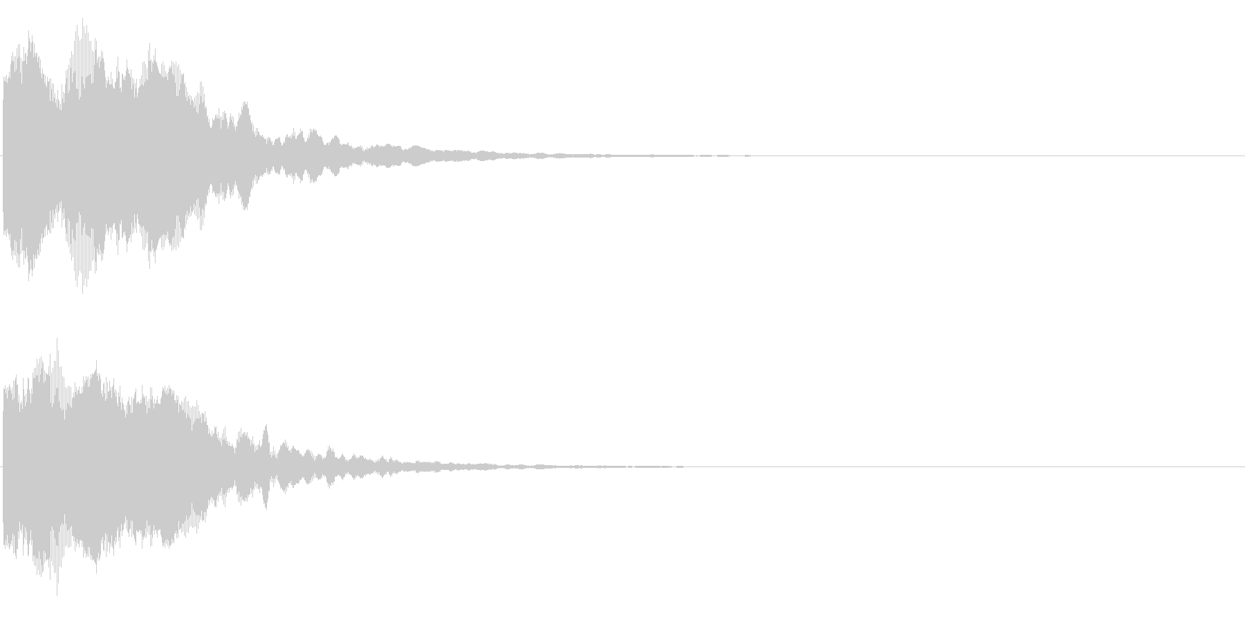 ゲームスタート、決定、ボタン音-168の未再生の波形