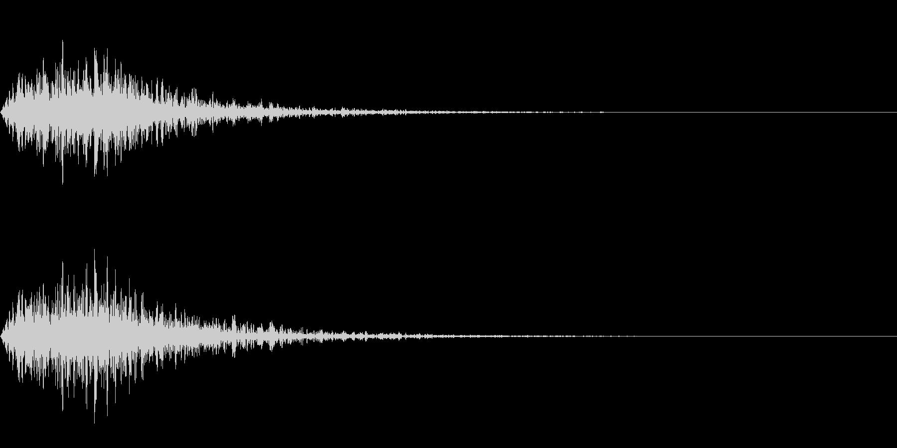 オーケストラヒットによる ジャジャンの未再生の波形