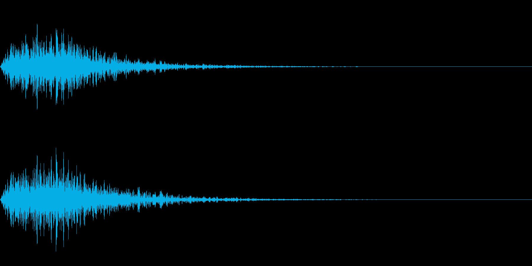 オーケストラヒットによる ジャジャンの再生済みの波形