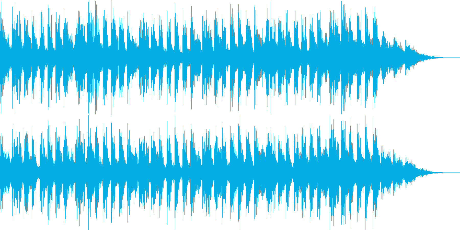 雰囲気があるBGMの再生済みの波形