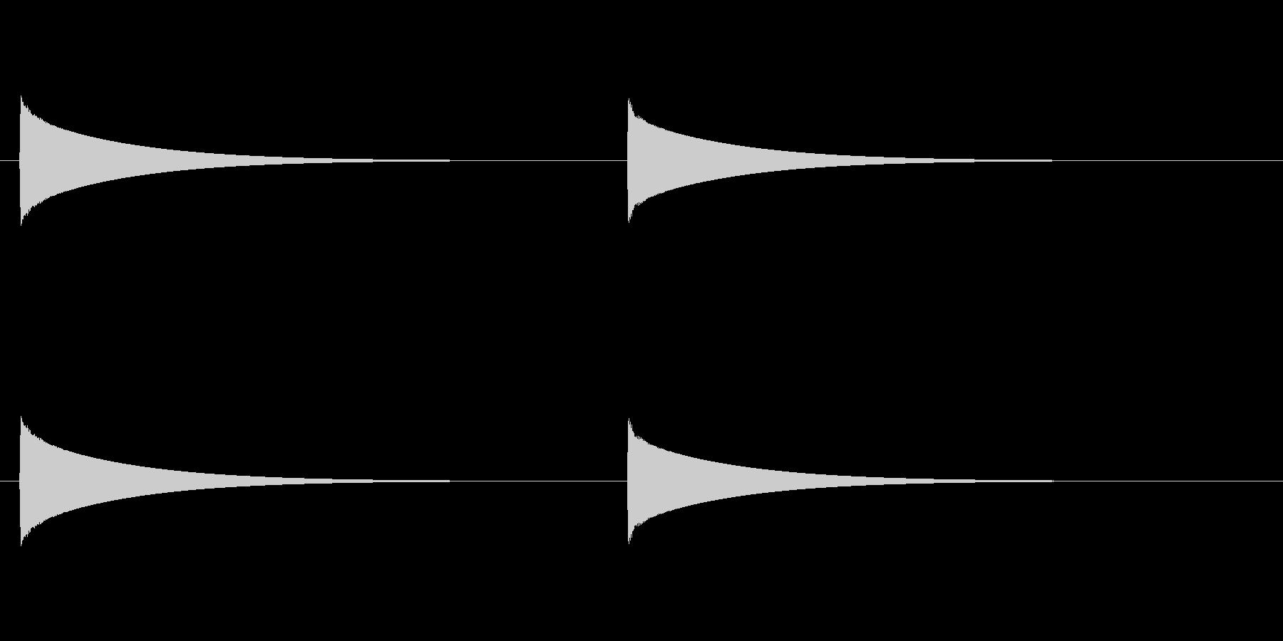【ドアベル ピンポン02-3】の未再生の波形