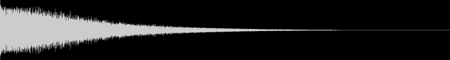 キラキラしたインパクト音の未再生の波形
