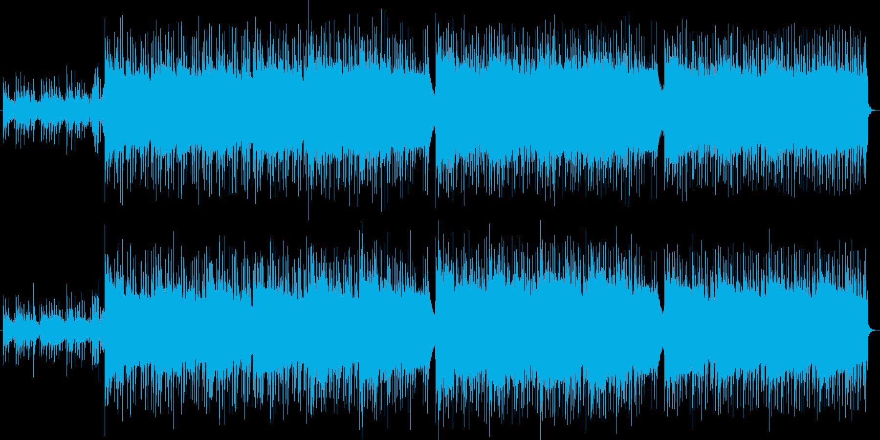 宇宙・SF向けのデジタルで重厚感ある曲の再生済みの波形