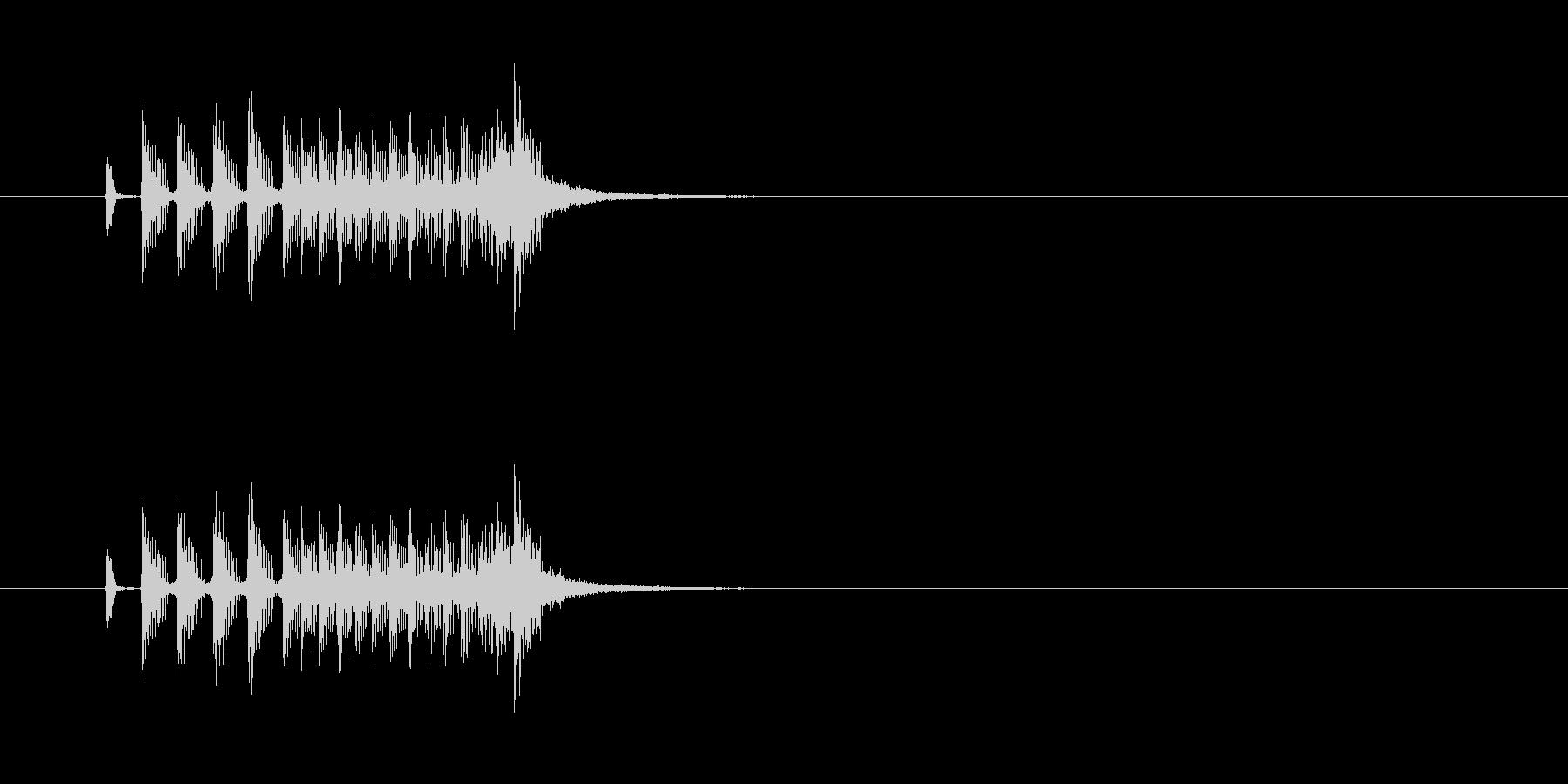 ジングル(ファンキーな感じ)の未再生の波形