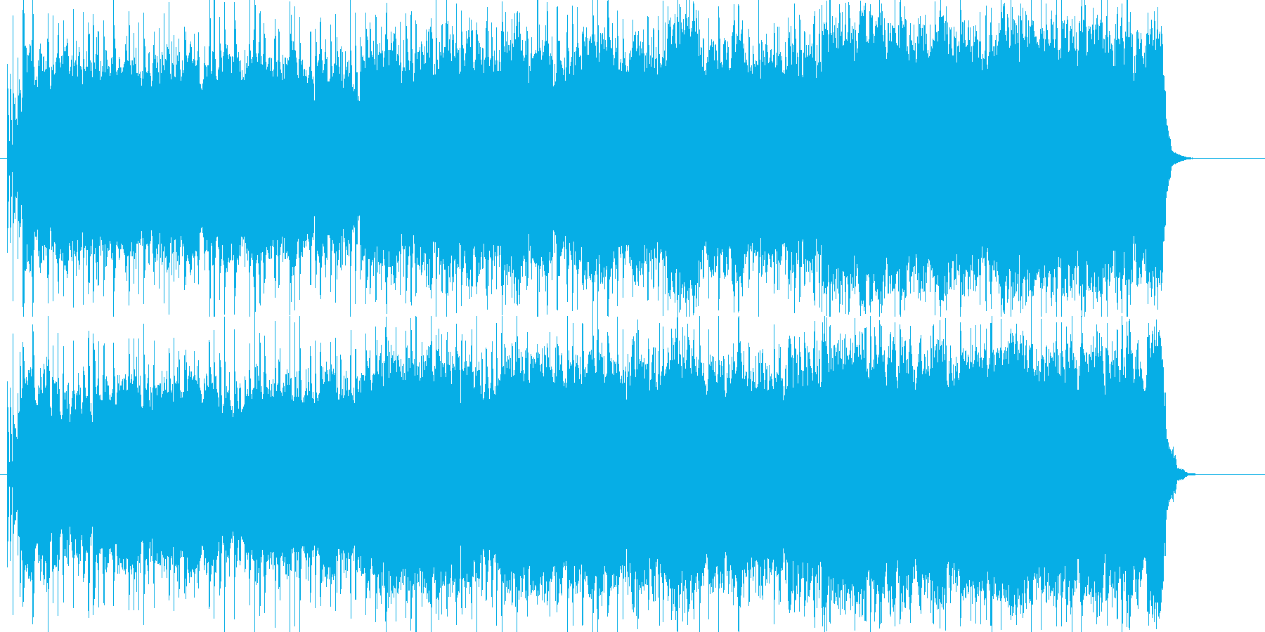 若さ溢れるパワフルで情熱的なロックの再生済みの波形