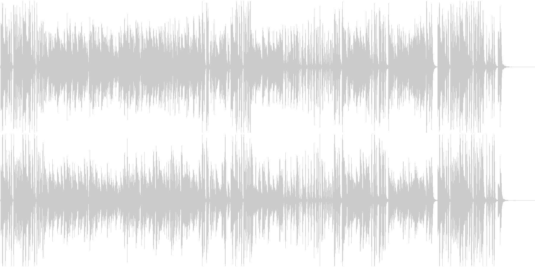 ジャズピアノソロ 使いやすい定番ジャズ風の未再生の波形