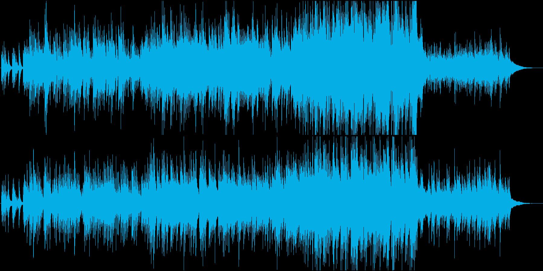 春のどこか切ないピアノの再生済みの波形