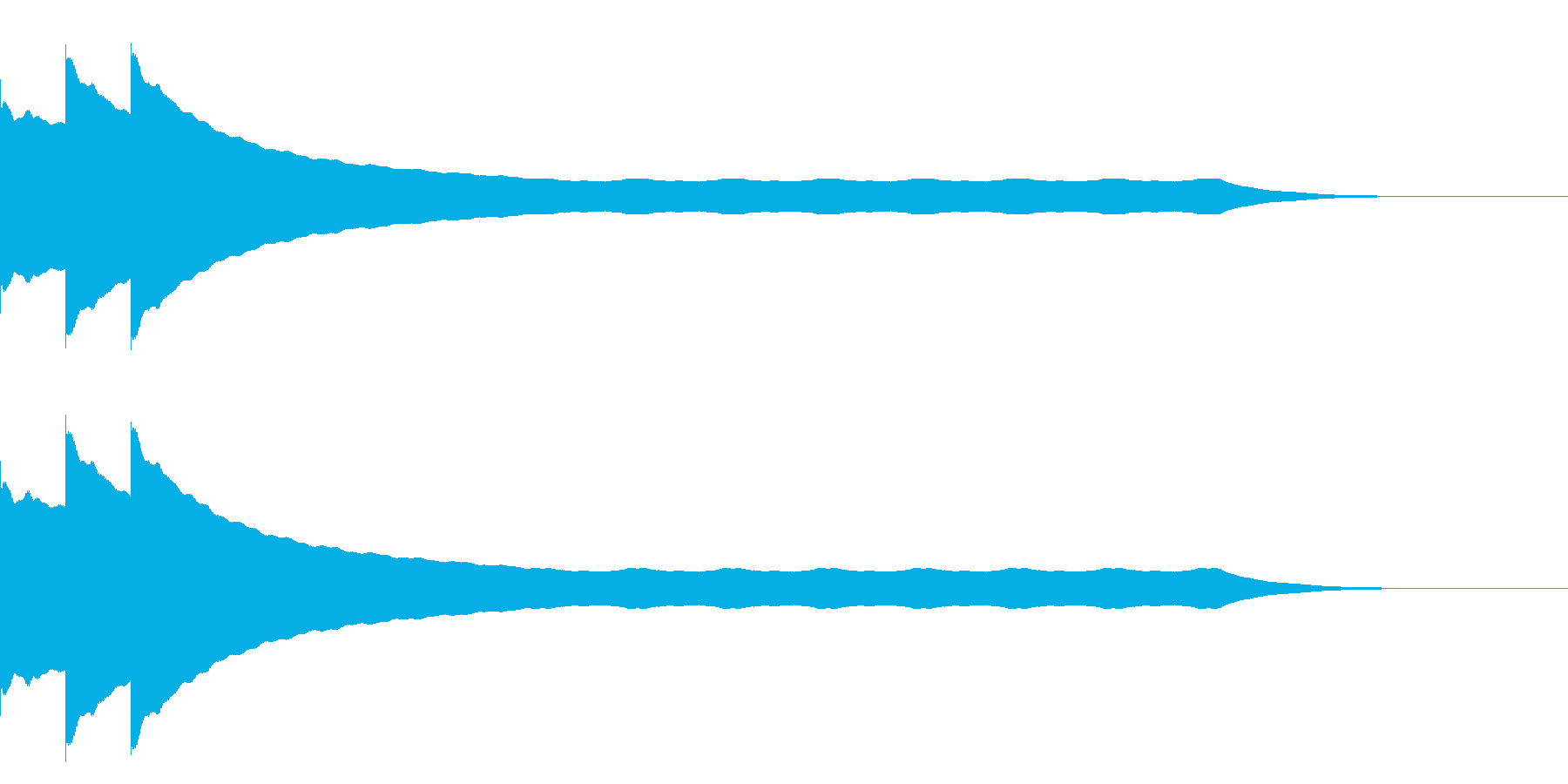 チーンチーン 仏壇の鐘の音4の再生済みの波形