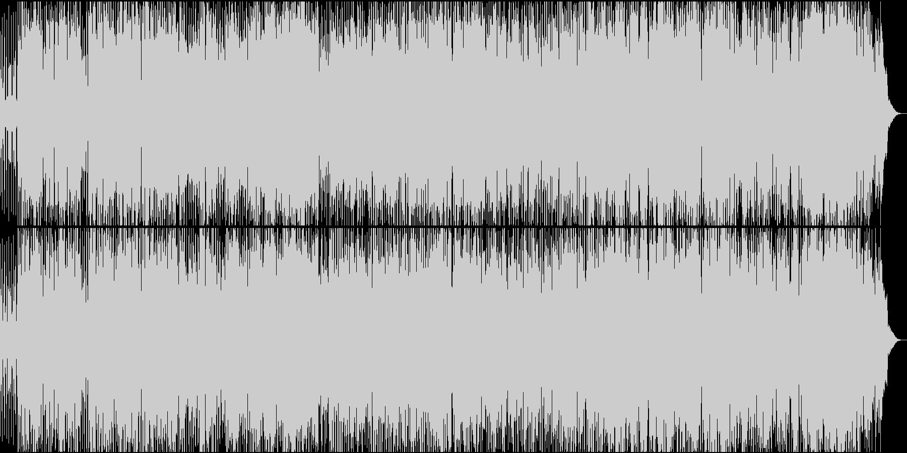 ジャズギターの軽快なラテンの未再生の波形