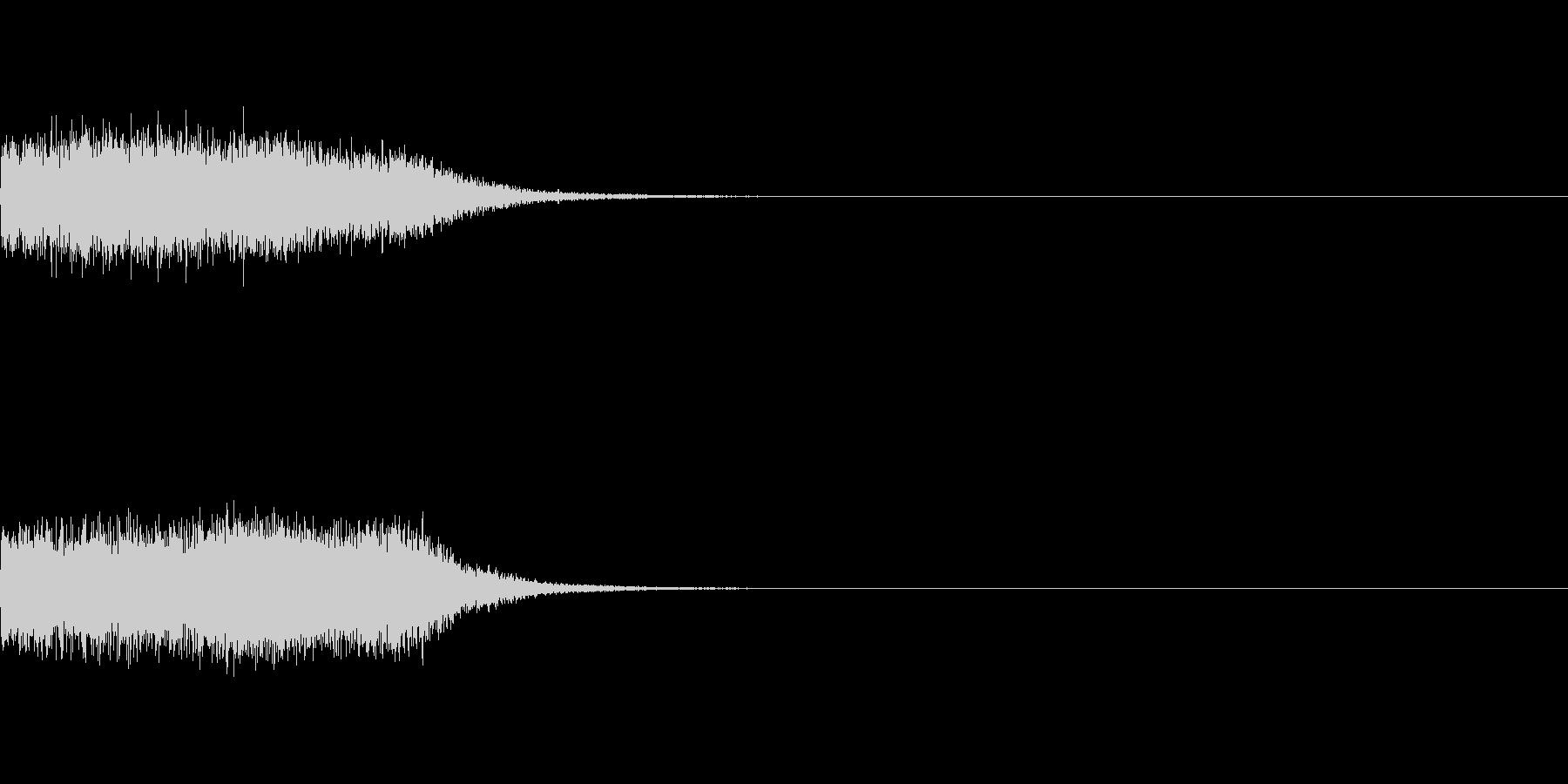 剣と剣が交わる音_その2の未再生の波形
