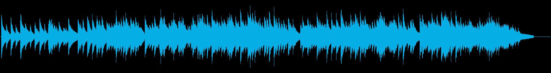 寂しげな旋律のピアノバラードの再生済みの波形