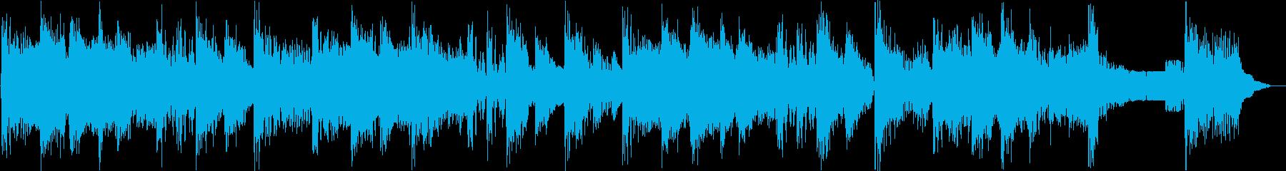 攻撃的なビートの効いたジングルの再生済みの波形