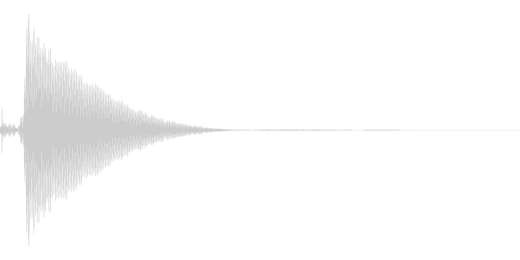 ポンッの未再生の波形